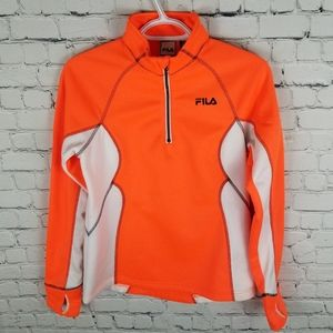 FILA   Performance Running 1/3 zip pullover top
